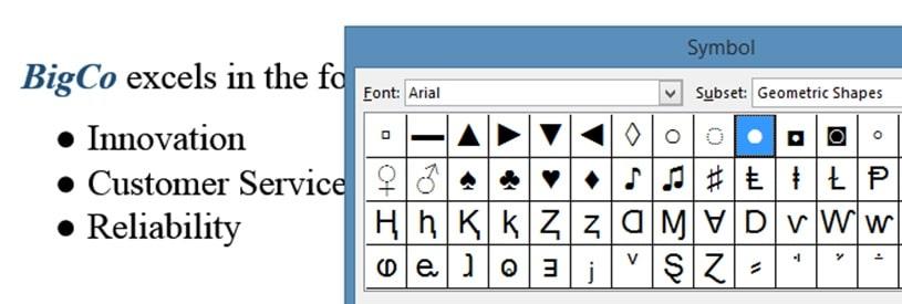Excel Bullets Image 7